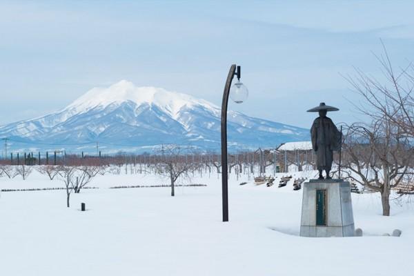 唐糸御前史跡公園の冬
